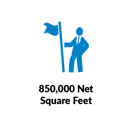 850,000 Net Square Feet